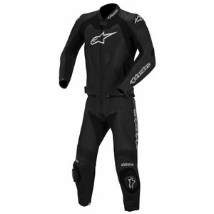Alpinestars GP Pro Two Piece Leather Suit Black