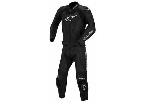 Alpinestars GP Pro Two Piece Leather Suit Black