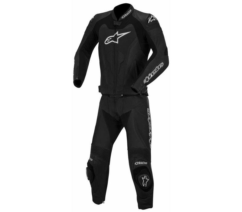 GP Pro Two Piece Leather Suit Black