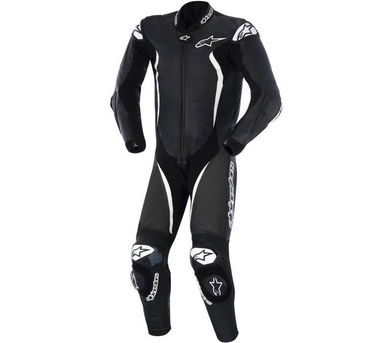 GP Tech One Piece Racing Suit Black White