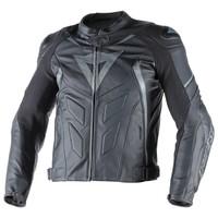 Avro D1 Pelle chaqueta - Negro Negro Antracite
