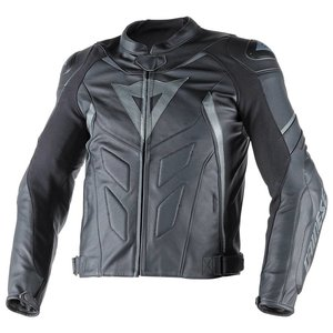 Dainese Avro D1 leather Jacket - Black Black Antracite
