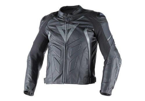 Dainese Avro D1 Pelle chaqueta - Negro Negro Antracite
