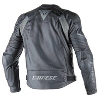 Avro D1 leather Jacket - Black Black Antracite