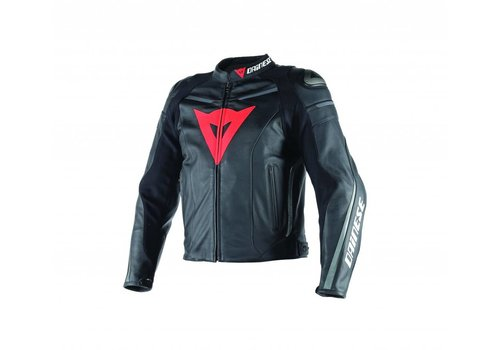 Dainese Super Fast Pelle Jacket Black Black Anthracite