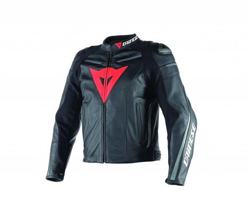 Super Fast Pelle Jacket Black Black Anthracite