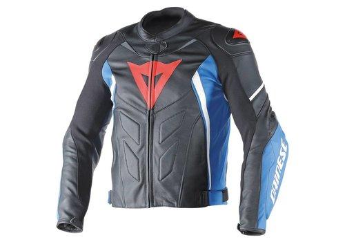 Dainese Avro D1 leather Jacket - Black Blue White