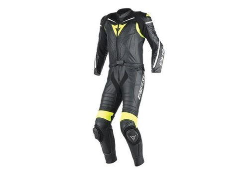 Dainese Online Shop Dainese Laguna Seca D1 Two Piece Suit Black fluo Yellow