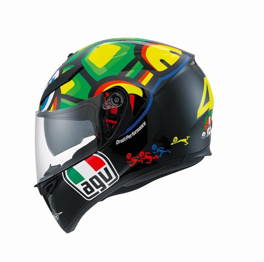 Casque Agv K3 Sv Turtle Tortue Valentino Rossi