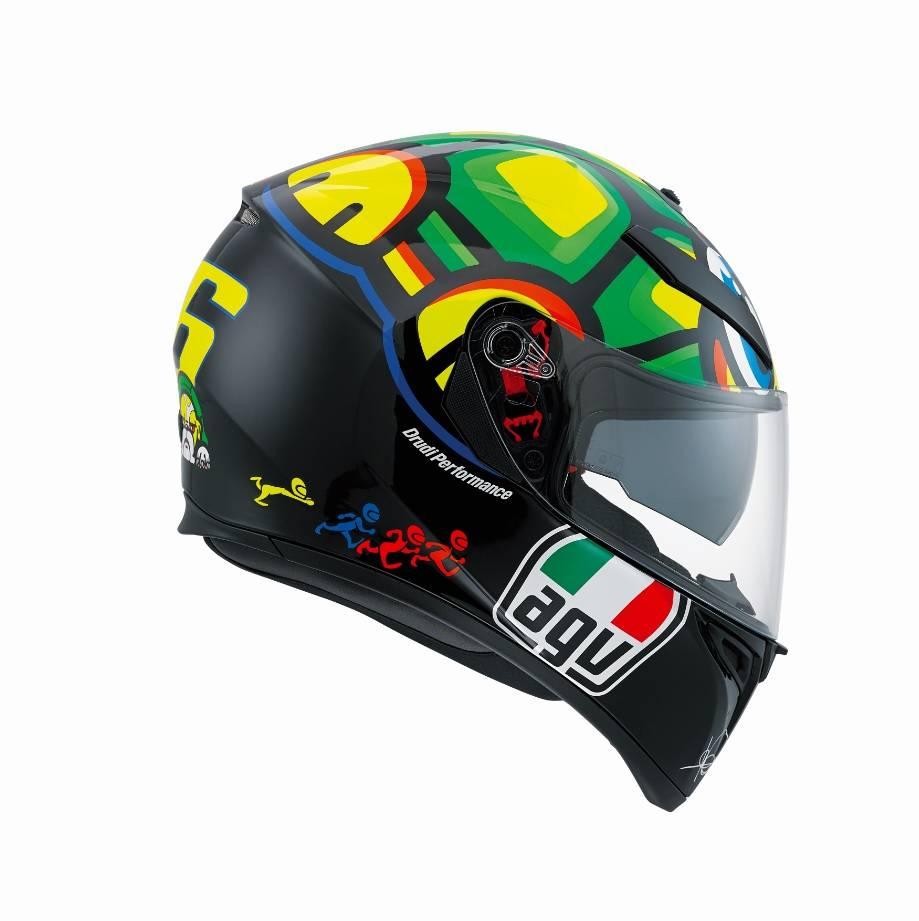 casque agv k3 sv turtle tortue valentino rossi champion helmets l 39 equipment moto. Black Bedroom Furniture Sets. Home Design Ideas