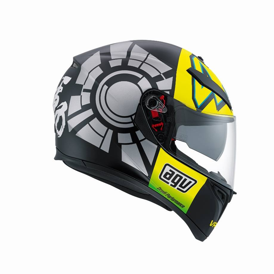 agv k3 sv winter test 2012 helmet valentino rossi champion