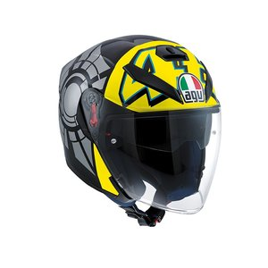 AGV K5 Jet Wintertest 2011 casco - Valentino Rossi