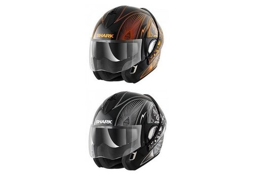 SHARK Evoline 3 Mezcal Chrome Casco