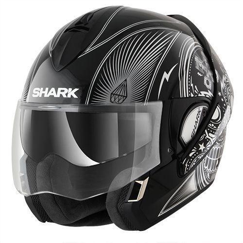 shark evoline 3 mezcal chrome helmet champion helmets. Black Bedroom Furniture Sets. Home Design Ideas