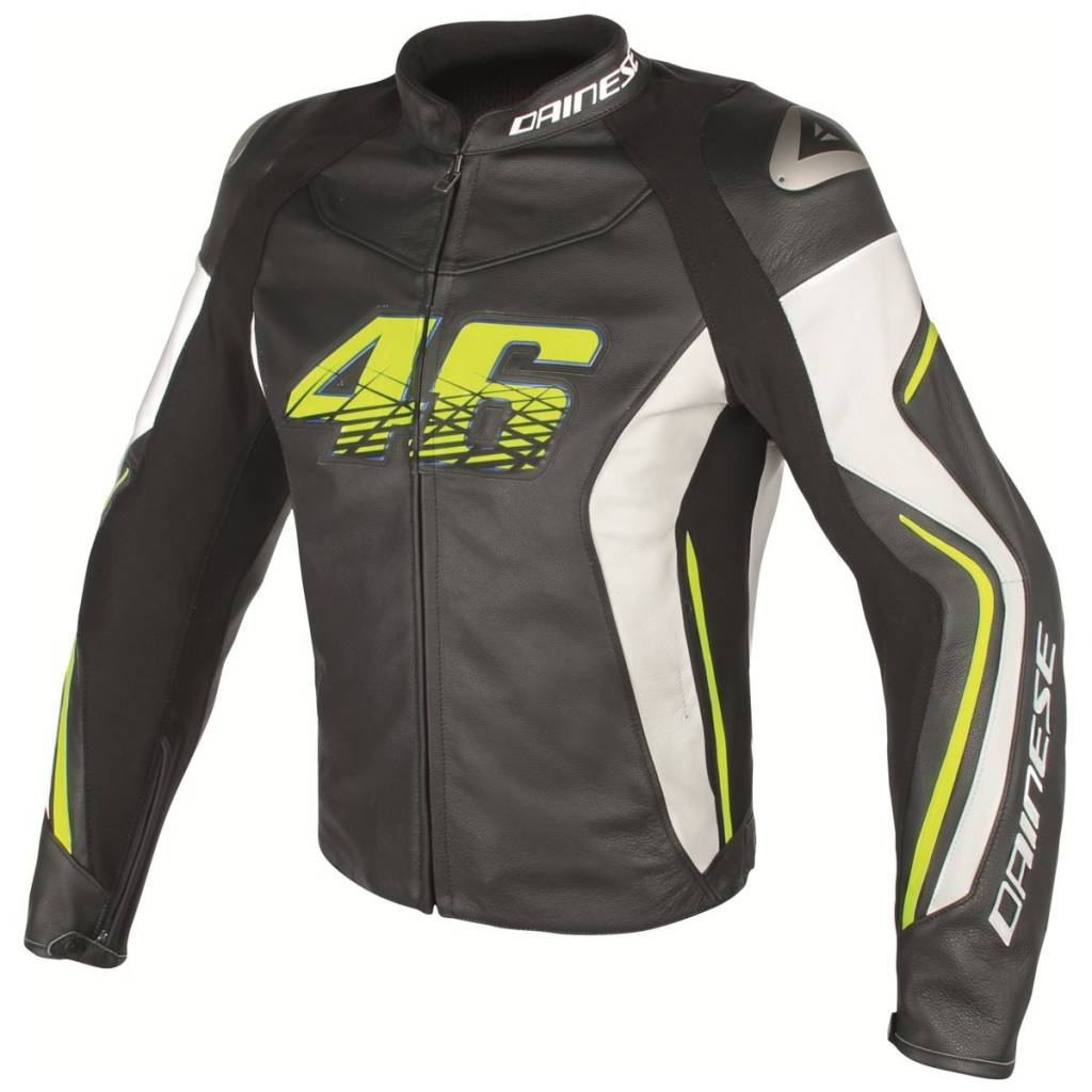 Alpinestars Jacket Leather >> Dainese VR46 D2 Valentino Rossi Jacket - Champion Helmets
