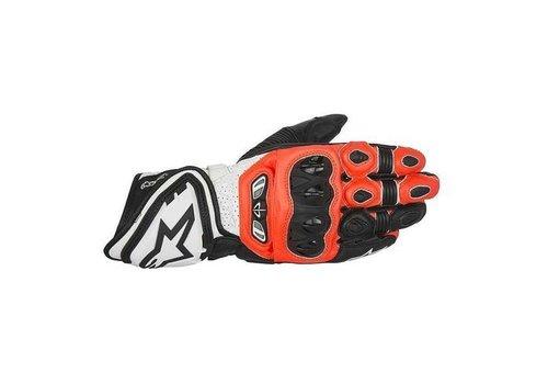 Alpinestars GP Tech Handschuhe Schwarz Rot Fluo Weiß