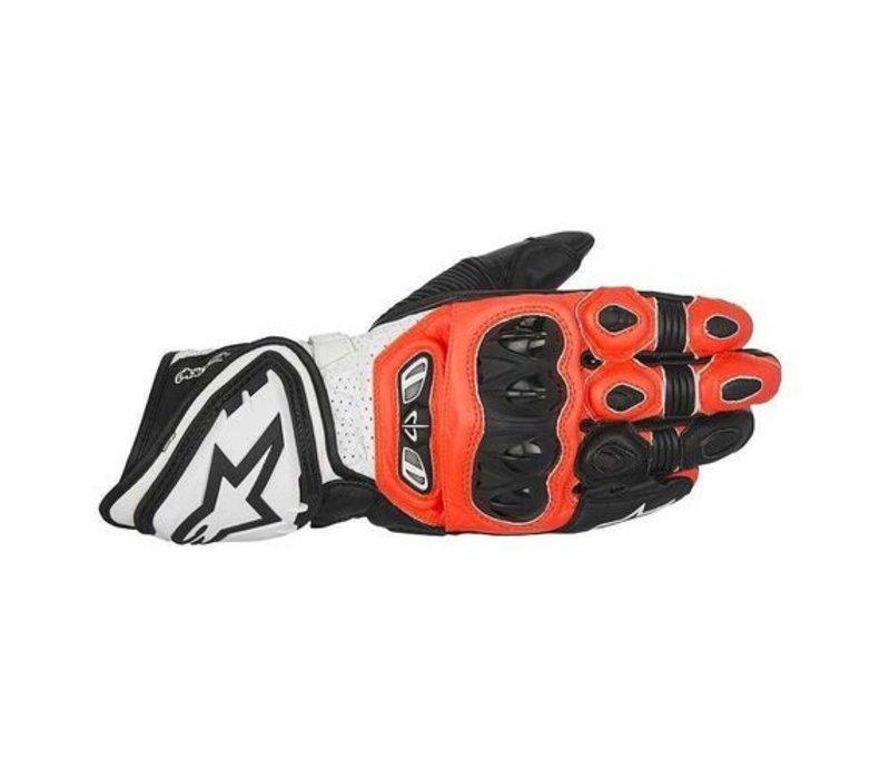 GP Tech Handschuhe Schwarz Rot Fluo Weiß