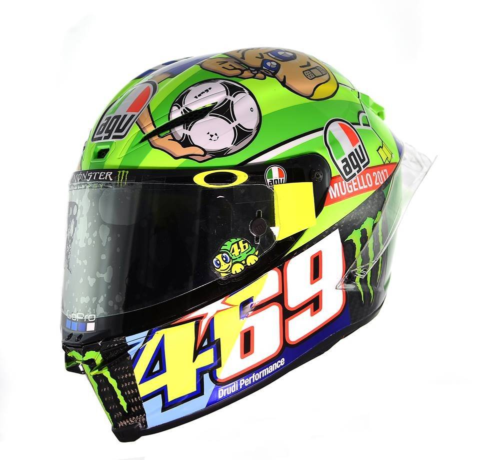 agv pista gp r mugello 2017 rossi helmet free visor. Black Bedroom Furniture Sets. Home Design Ideas