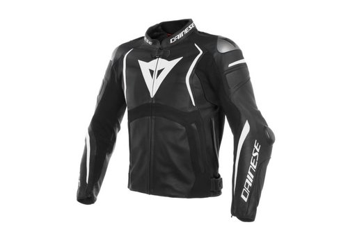 Dainese Dainese Mugello Leather Jacket Black White