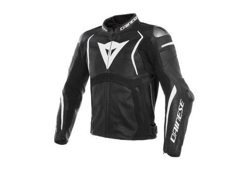 Dainese Online Shop Dainese Mugello Leather Jacket Black White