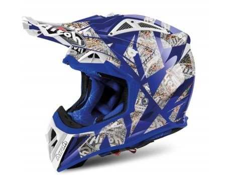 AIROH Aviator 2.2 Anniversary Blue Gloss шлем
