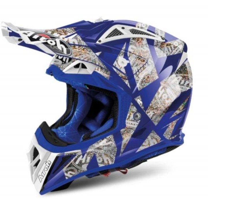 Aviator 2.2 Anniversary Blue Gloss Helm