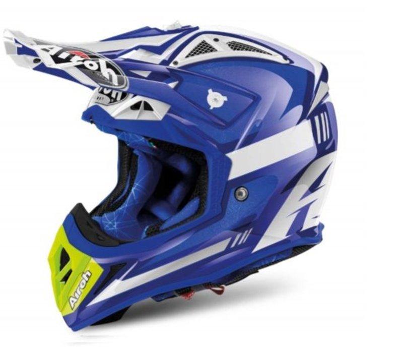 Aviator 2.2 Cairoli Ottobiano Blue Gloss Helm