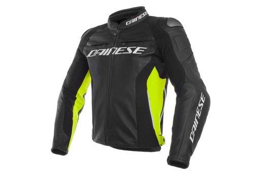 Dainese Online Shop Racing 3 Lederjacke - Schwarz Fluo Gelb