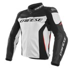 Dainese Racing 3 Leather Jacket - White Black Red
