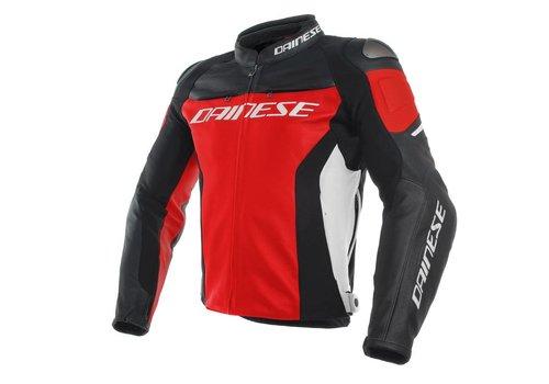 Dainese Online Shop Racing 3 Lederjacke - Rot Schwarz Weiss