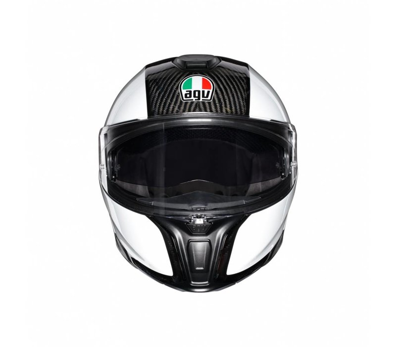 AGV Sportmodular Carbon Wit Helm