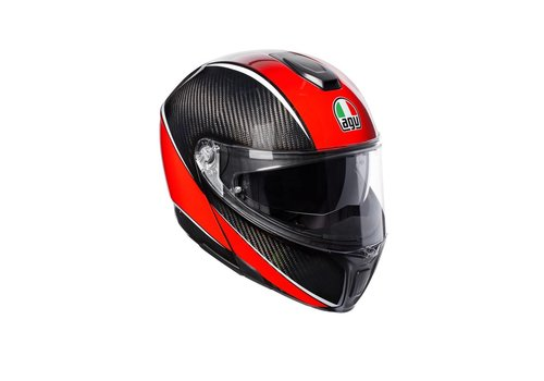 AGV Online Shop Sportmodular Aero Carbon Rot Helm