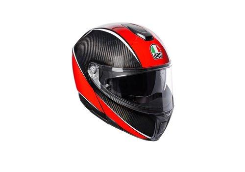 AGV Sportmodular Aero Carbon Röd Hjälm