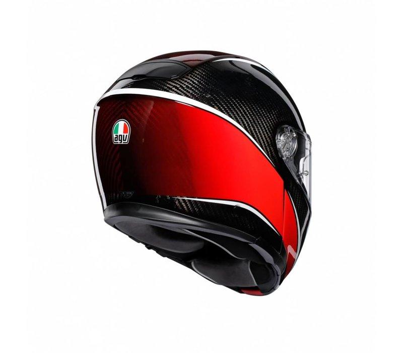 AGV Sportmodular Aero Carbon Rot Helm