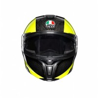AGV Sportmodular High Viz Carbon Gelb Helm - kostenlose Rücksendung