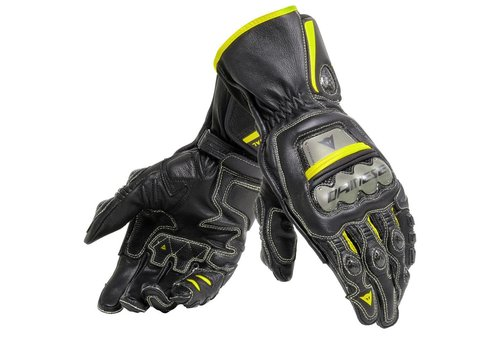Dainese Full Metal 6 Guantes Negros amarillos