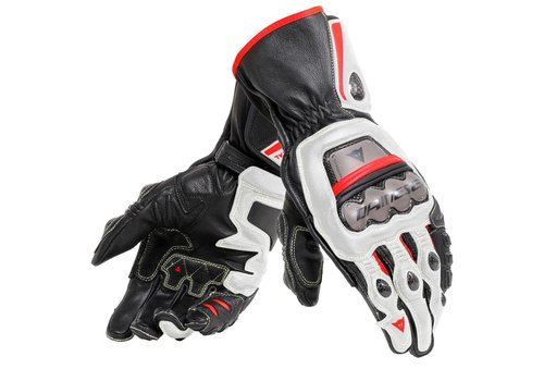 Dainese Full Metal 6 Guantes Negros Blancos Rojos