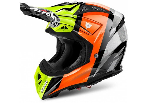 Airoh Online Shop Aviator 2.2 Revolve Orange Gloss Helmet