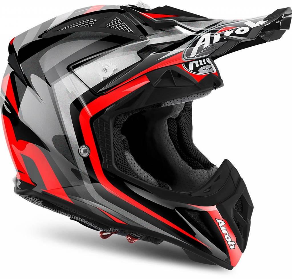 casque airoh aviator 2 2 warning red gloss champion helmets. Black Bedroom Furniture Sets. Home Design Ideas