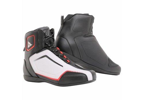 Dainese Raptors Zapatos Negro Blanco Rojo