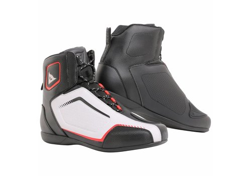 Dainese Raptors AIR Zapatos Negro Blanco Rojo