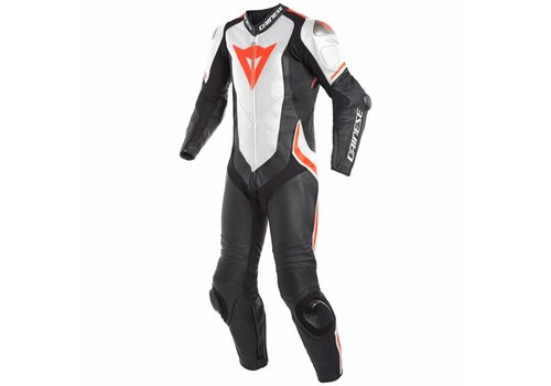 Dainese Online Shop Dainese Laguna Seca 4 Perforated One-Piece Racing Suit Black White Fluo Red