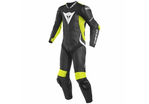 Dainese Online Shop Dainese Laguna Seca 4 Perforated One-Piece Racing Suit Black Fluo Yellow White