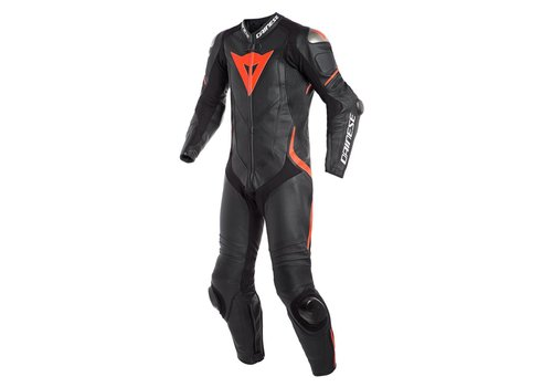 Dainese Online Shop Dainese Laguna Seca 4 Perforated One-Piece Racing Suit Black Fluo Red