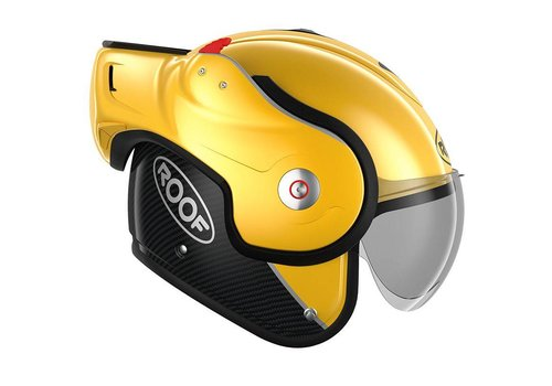 ROOF ROOF Boxxer Carbon Modular Helmet Yellow