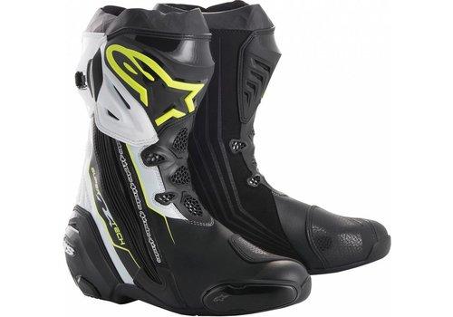 Alpinestars Online Shop Alpinestars SUPERTECH-R Motorcycle Boots Black Yellow Fluo White