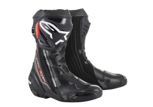 Alpinestars Online Shop Alpinestars SUPERTECH-R Motorcycle Boots Black Grey Red Fluo