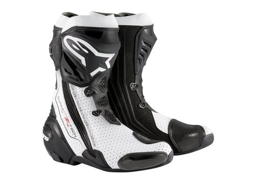 Alpinestars Online Shop Alpinestars SUPERTECH-R Botas Pretas brancas ventiladas