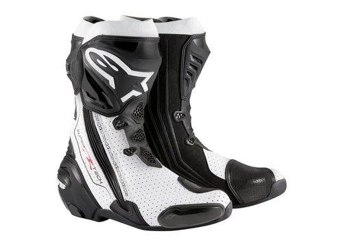 Alpinestars Online Shop Alpinestars SUPERTECH-R Motorcycle Boots Black White Vented
