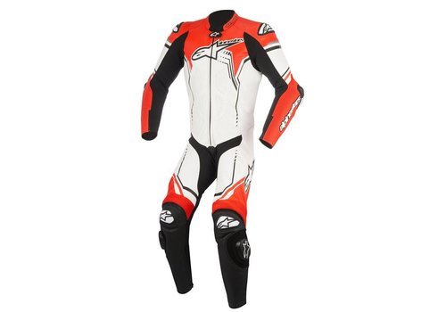 Alpinestars Alpinestars GP Plus V2  1PC Leather Suit White Black  Red Fluo